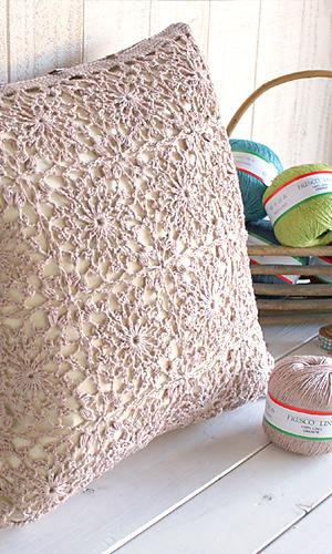 Fresco Lino Pillow FREE Crochet Pattern