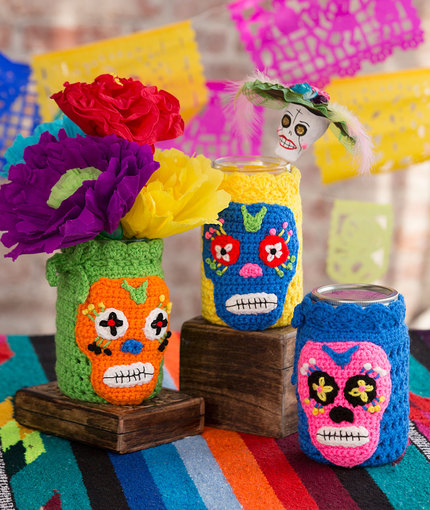 Halloween Mason Jar Cozy Free Crochet Pattern