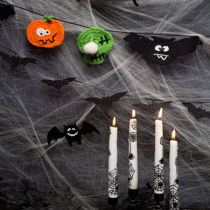 Halloween Party Banner Free Crochet Pattern