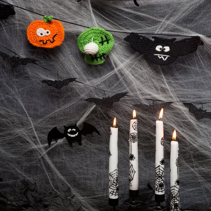 Halloween Party Banner Free Crochet Pattern