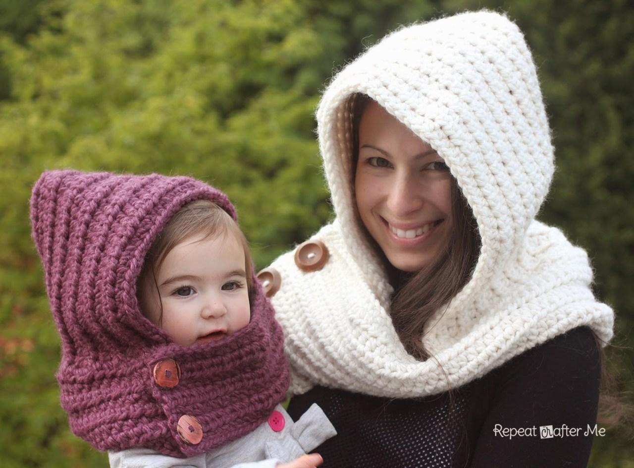 Hooded Crochet Cowl FREE Crochet Pattern