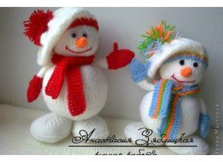 Knitting Snowman Free Pattern