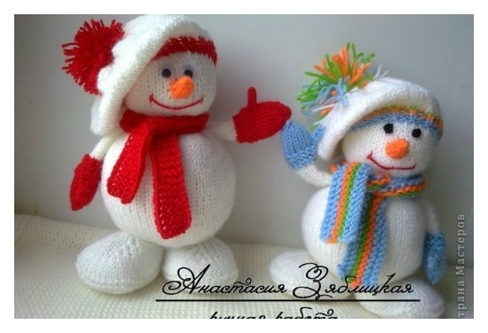 Knitting Snowman Free Pattern -