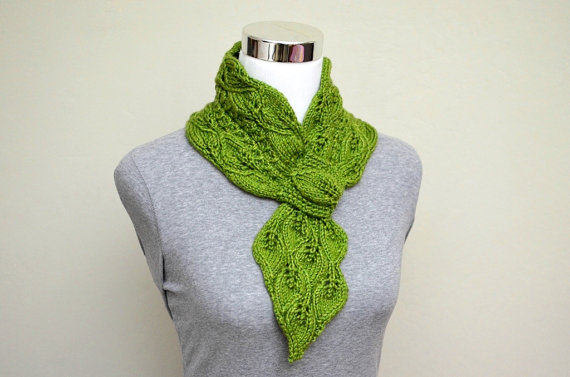 Leaves And Mock Cables Scarf Knitting Pattern Cool Creativities