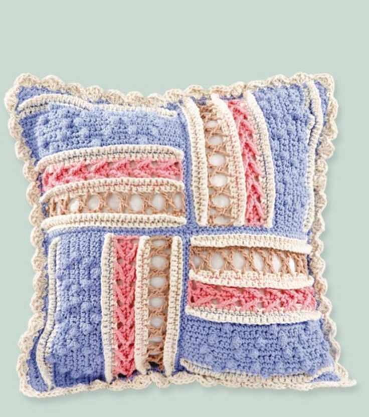 Knitting Pattern For Round Cushion Cover : 10+ Free Gorgeous Pillow Crochet Patterns