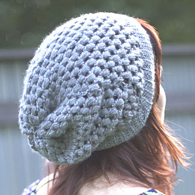Puff Stitch Slouchy Beanie Free Crochet Pattern For Beginner Cool