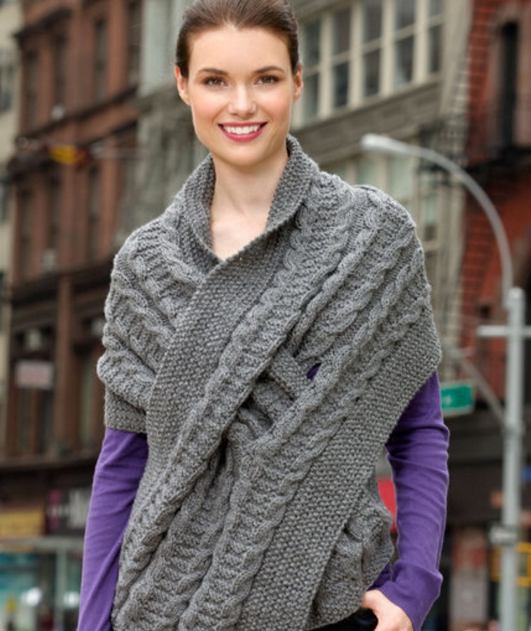 Knitting Patterns For Wraps Free : 10+ Keyhole Scarves and Shawl Knitting Patterns