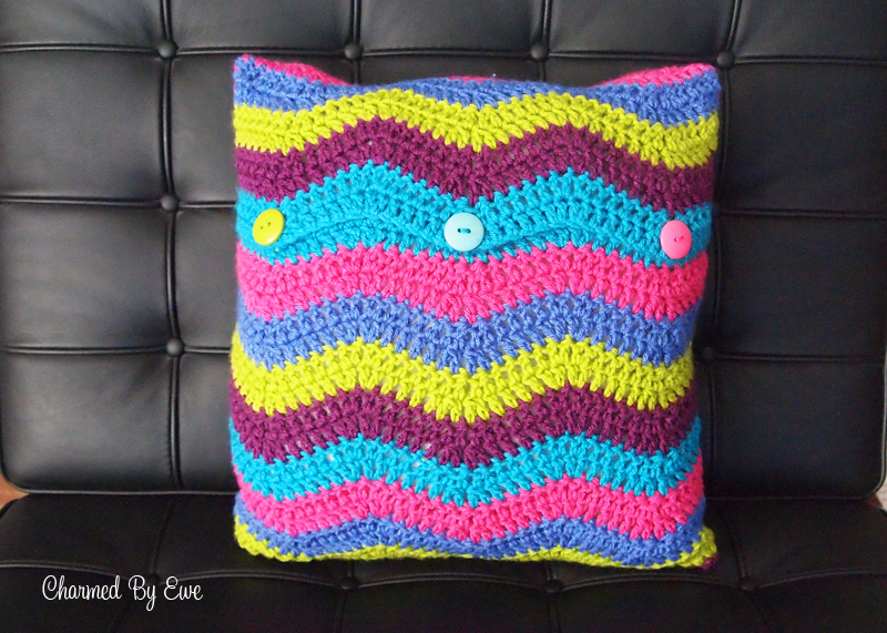 Ripple Pillow Cover Free Crochet Pattern