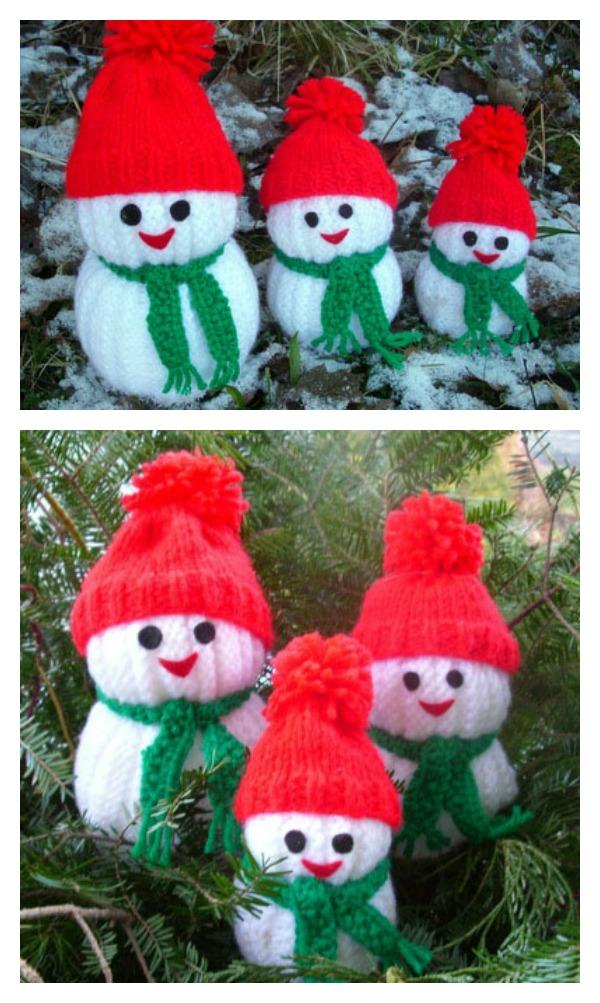 Knitted Snowman Pattern Free : Knitting Snowman Free Pattern