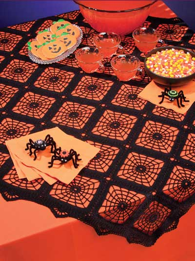 SpiderWeb Tablecloth Crochet Pattern
