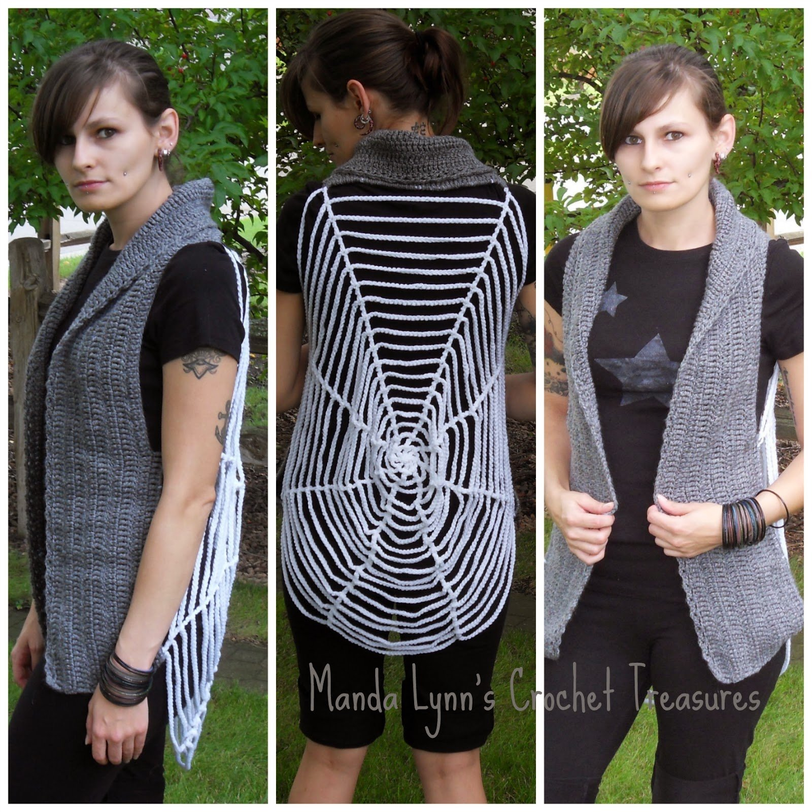 Spiderweb Vest Free Crochet Pattern