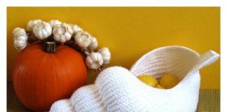 Spiral Shell Crochet Basket Pattern