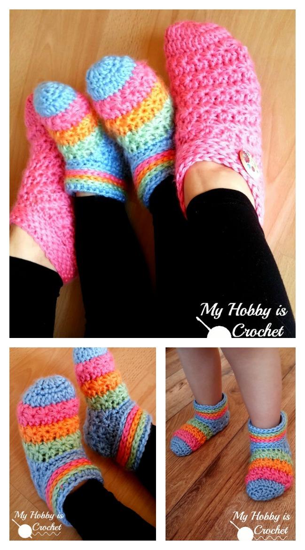 Starlight Toddler Slippers Free Crochet Pattern