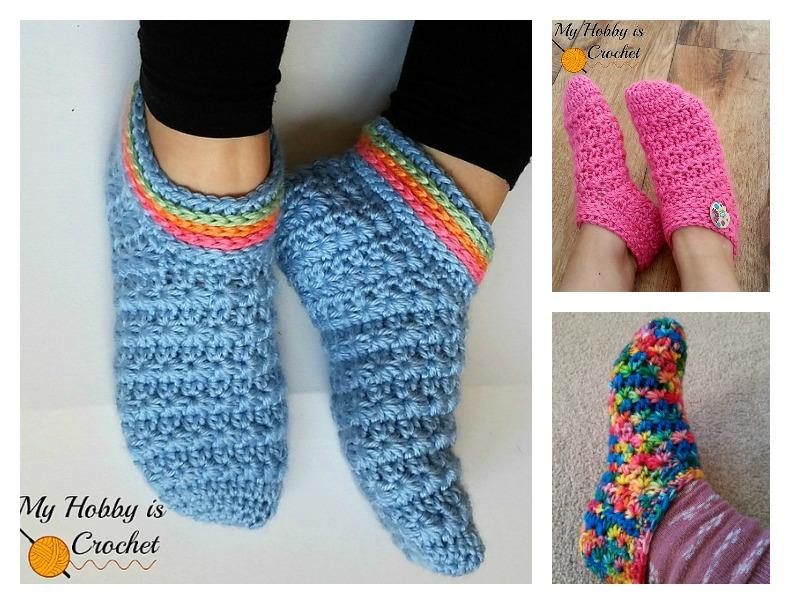 Starlight Slippers Free Crochet Pattern