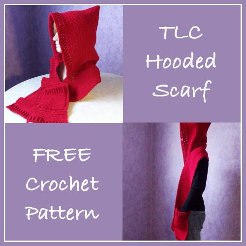 TLC Hooded Scarf Free Crochet Pattern
