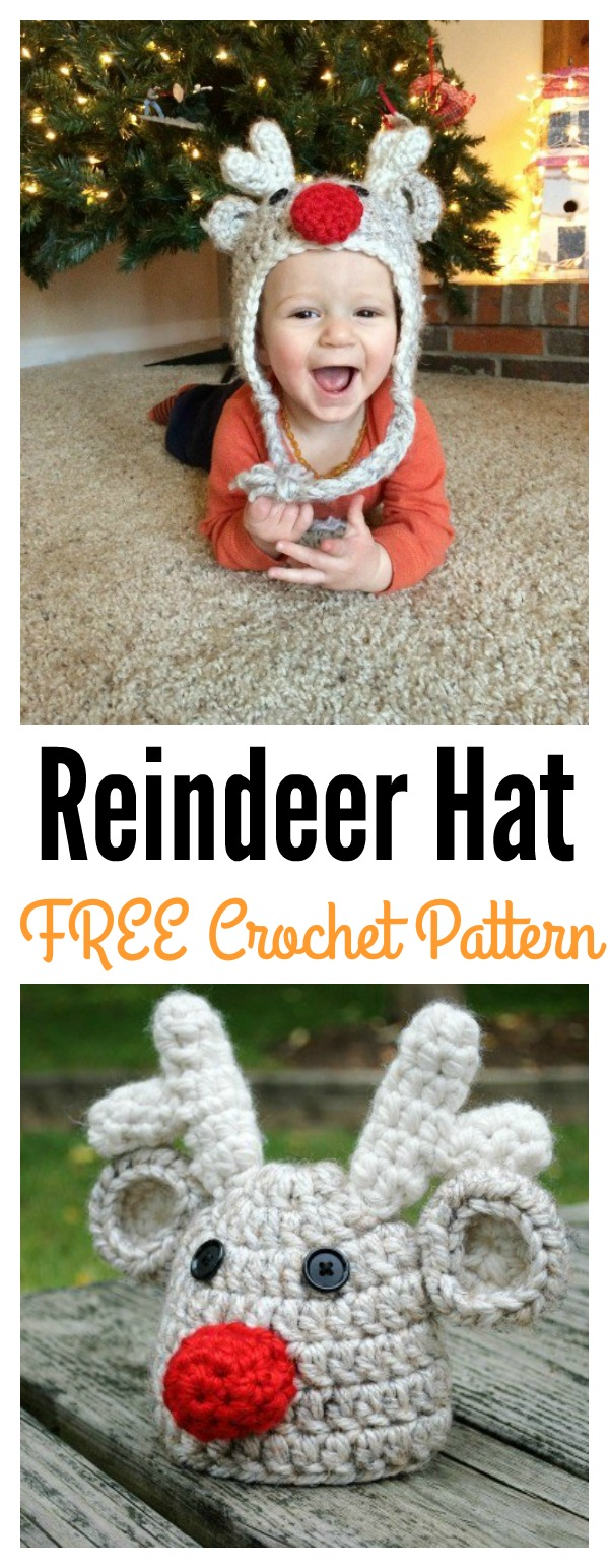 Toddler Reindeer Hat Free Crochet Pattern - Cool Creativities