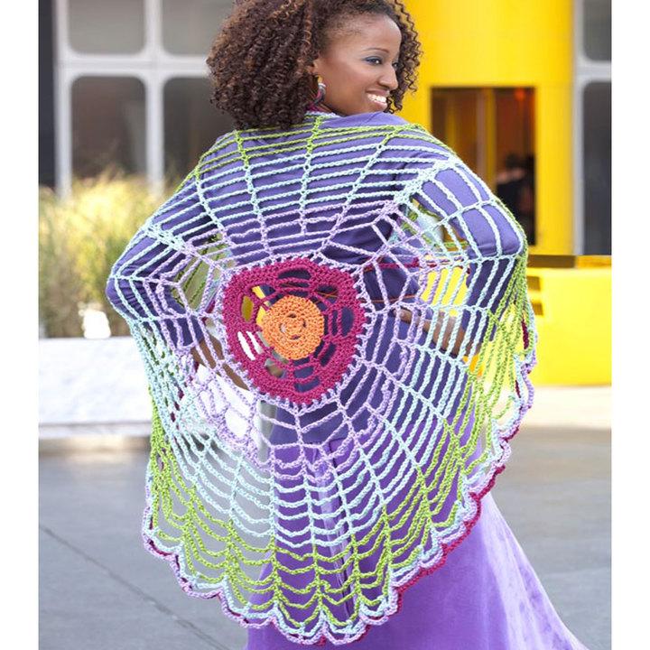 Versatile Spiderweb Wrap FREE Crochet Pattern