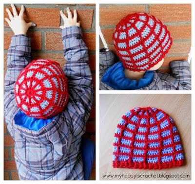 Spider web Beanie Hat FREE Crochet Pattern