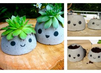 DIY Cute Concrete Planter