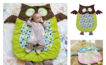 DIY Cute Owl Floor Play Mat