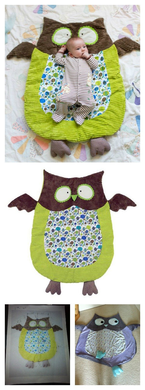 DIY Cute Owl Floor Play Mat
