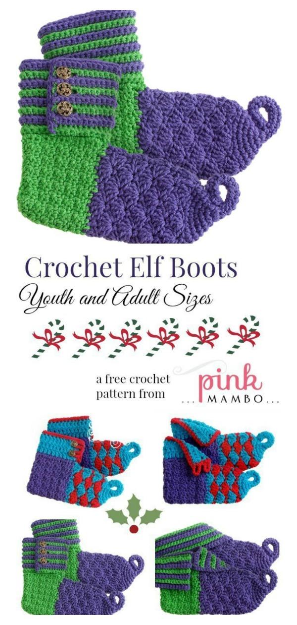 Elf Boots Free Crochet Pattern