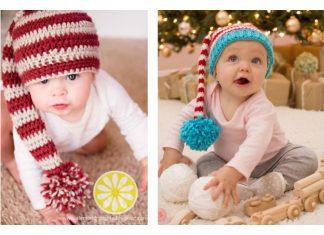 Elf Long Tail Stripey Hat Free Crochet Pattern