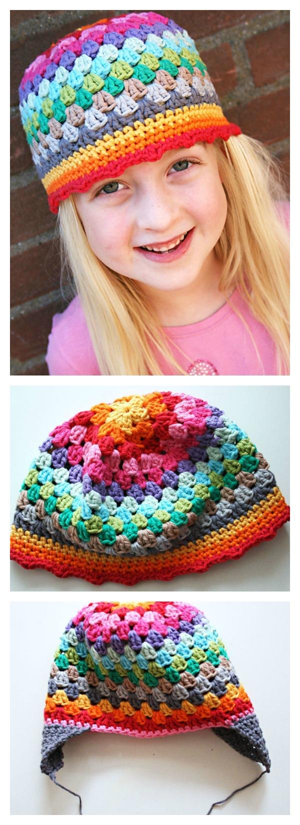 Granny Stitch Rainbow Beanie Hat Free Crochet Pattern 26c719378d3