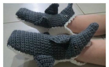 Shark Baby Slippers Free Crochet Pattern