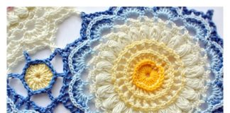 Pretty Textured Motif Free Crochet Pattern