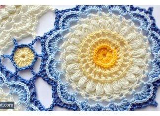 Pretty Textured Motif Free Crochet Pattern
