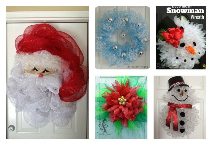 10 Creative Christmas Deco Mesh Wreath Ideas