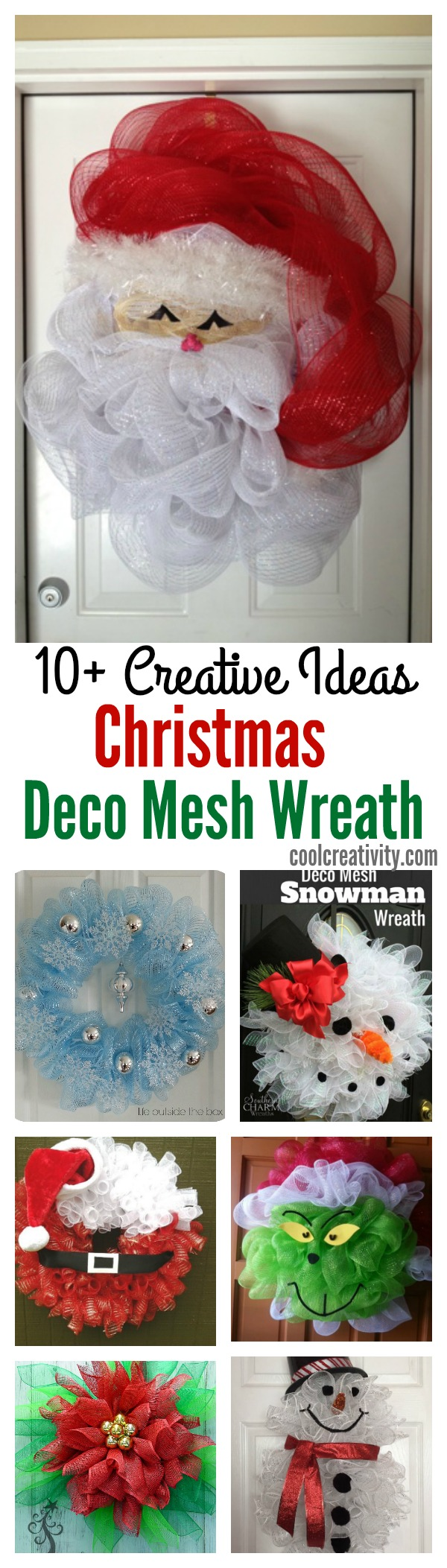 10 creative christmas deco mesh wreath ideas. Black Bedroom Furniture Sets. Home Design Ideas