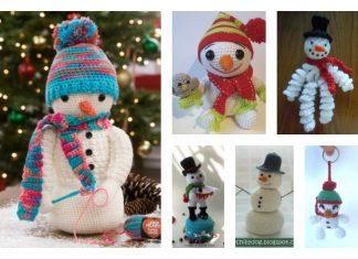 10 Crochet Amigurumi Snowman Free Patterns