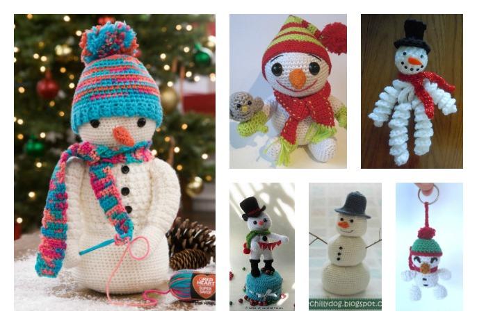 Crochet Amigurumi Santa & Snowman Christmas Ornaments Free Pattern ... | 468x686