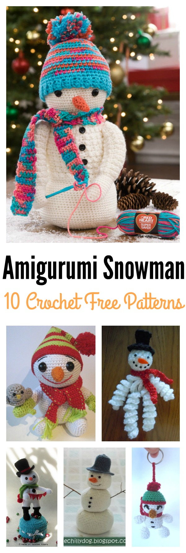 10 Crochet Amigurumi Snowman Free Patterns