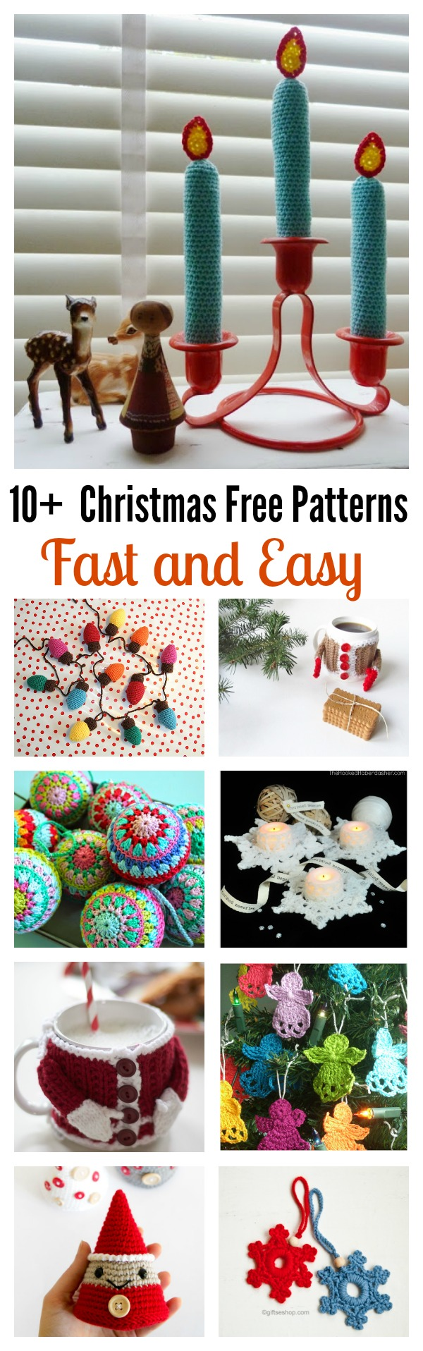 10+ Fast and Easy Christmas Free Patterns for Last Minutes