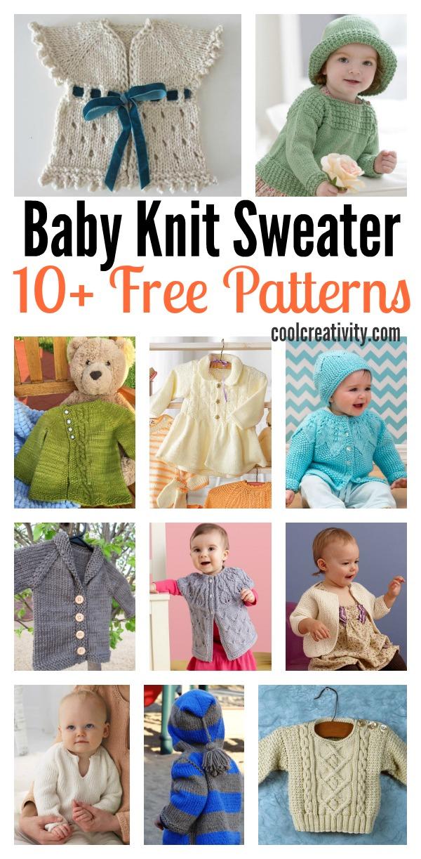 10+ Free Baby Sweaters Knitting Patterns
