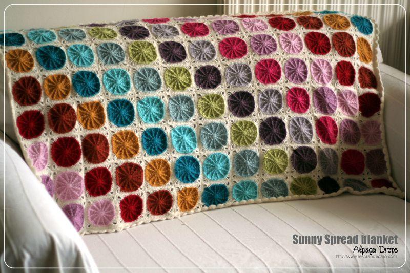 Pretty Sunny Spread Crochet Blanket