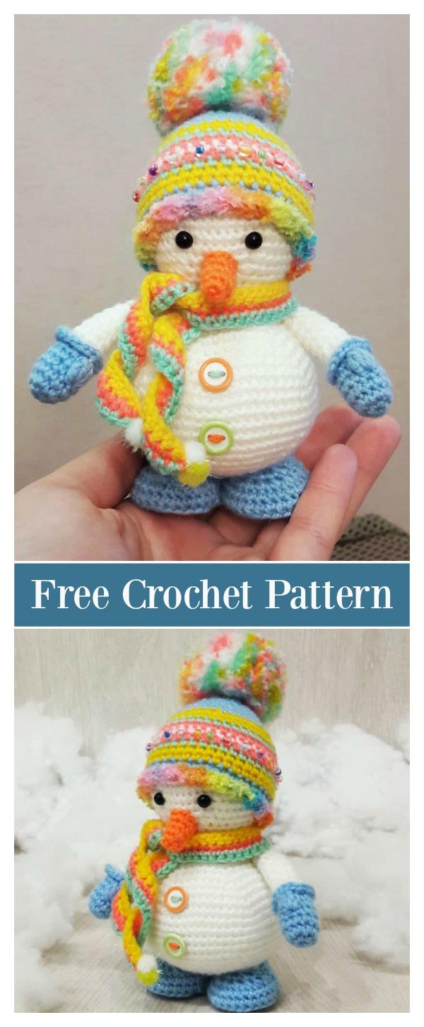 Christmas Snowman Amigurumi Free Crochet Pattern
