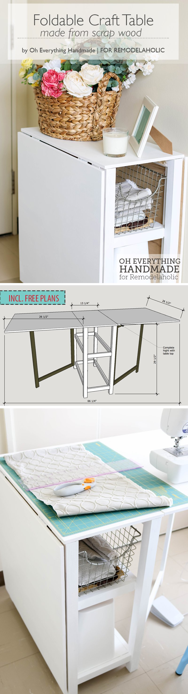 DIY Foldable Craft Table