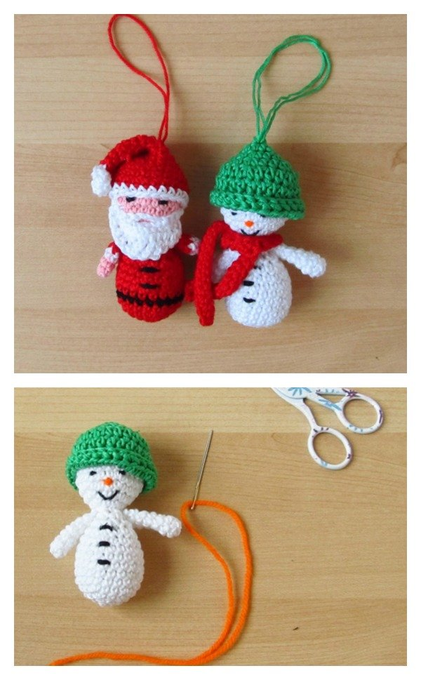 19 Free Amigurumi Christmas Santa Crochet Patterns | Haken kerst ... | 969x600