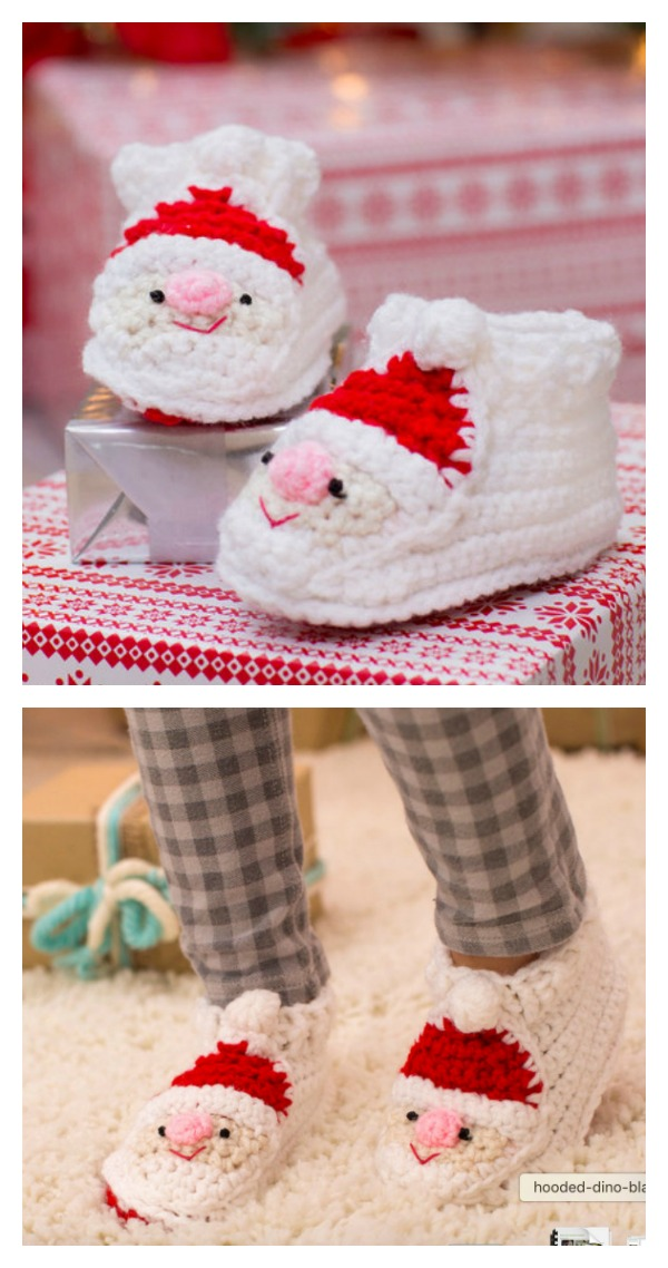 Crochet Childs Santa Slippers Free Pattern Cool Creativities