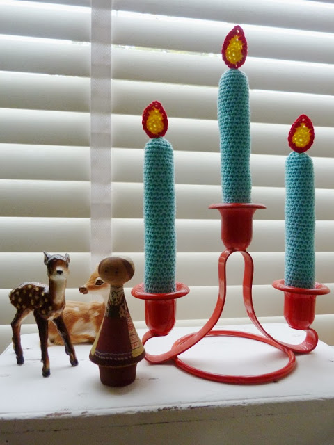 Crochet Christmas Candles Free Pattern