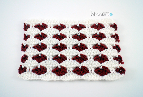 Crochet Heart Stitch Free crochet Pattern and Video Tutorial