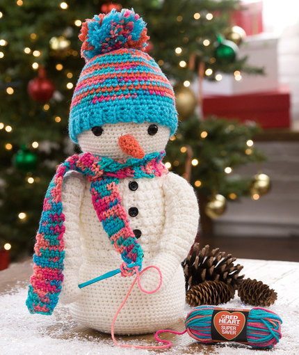 Crocheting Snowman Free Crochet Pattern