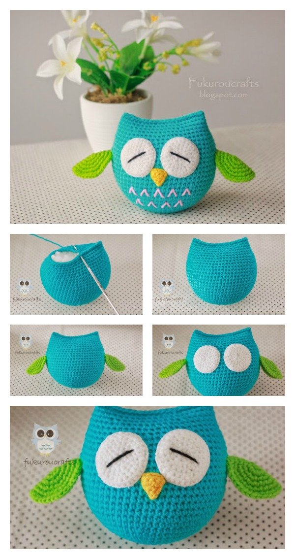 Free Crochet Pattern Owl Family : Cute Owl Free Crochet Pattern