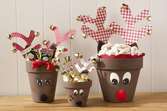 DIY Clay Pot Christmas Reindeer Craft