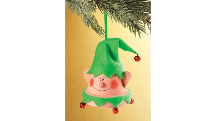 DIY Clay Pot Elf Ornament Craft