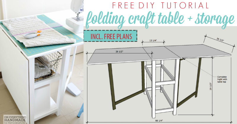 Diy foldable craft table for Fold up craft table
